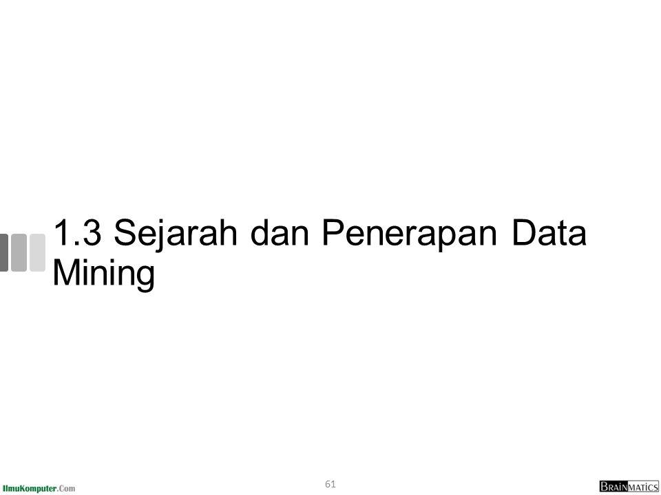1.3 Sejarah dan Penerapan Data Mining 61