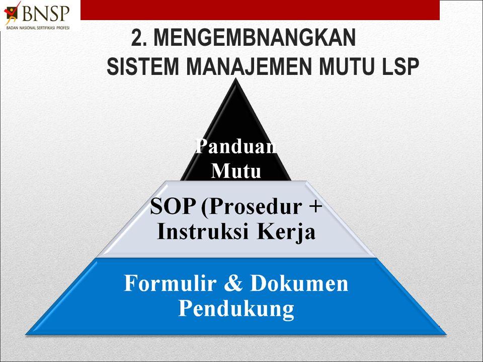 4) Menyiapkan SDM/Personil Inti LSP a.Pengembang Dokumentasi SMM-LSP b.Asesor lisensi (asesor /auditor kelembagaan LSP dan Official inspector) c.Penge