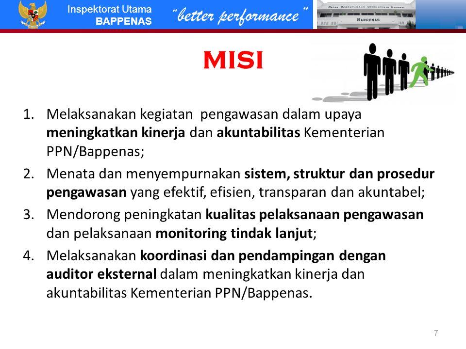 better performance Inspektorat Utama BAPPENAS Millenium Challenge Corporation Grant AS  RI USD 600jt untuk 5 thn.
