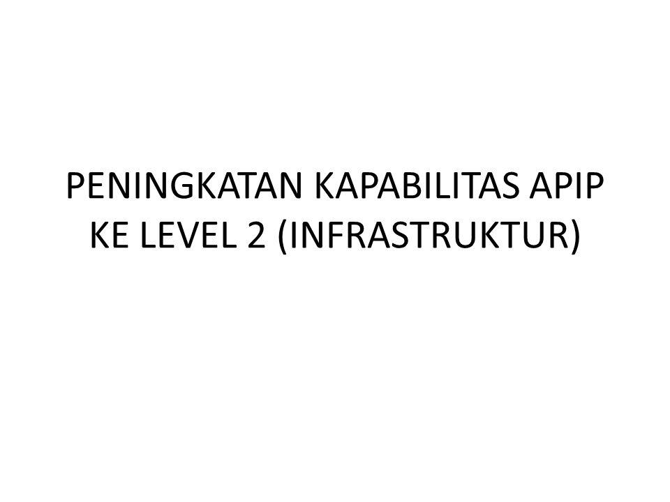 PENINGKATAN KAPABILITAS APIP KE LEVEL 2 (INFRASTRUKTUR)