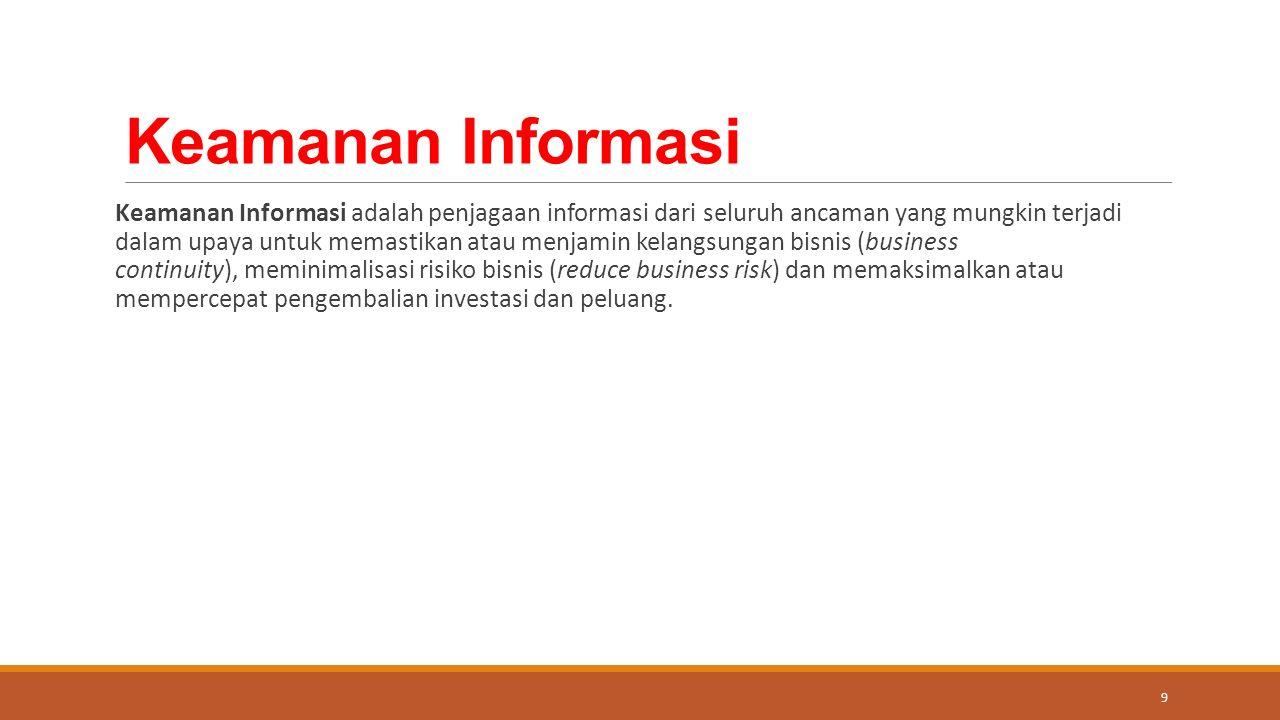 Area penggunaannya meliputi: 1.Audit teknologi informasi 2.Analisis resiko 3.Pengecekan kesehatan (perbandingan keamanan) 4.Konsep keamanan 5.Manual keamanan 20