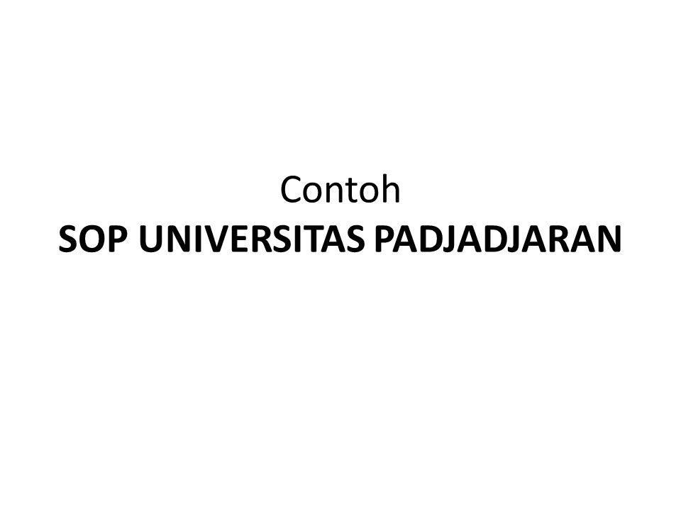 Contoh SOP UNIVERSITAS PADJADJARAN