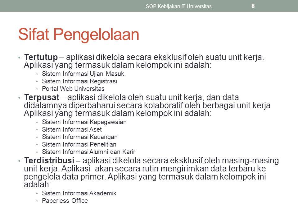 Data Primer - Kunci SOP Kebijakan IT Universitas 9