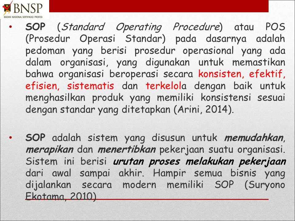 LT 2. Mengembangkan SOP LSP