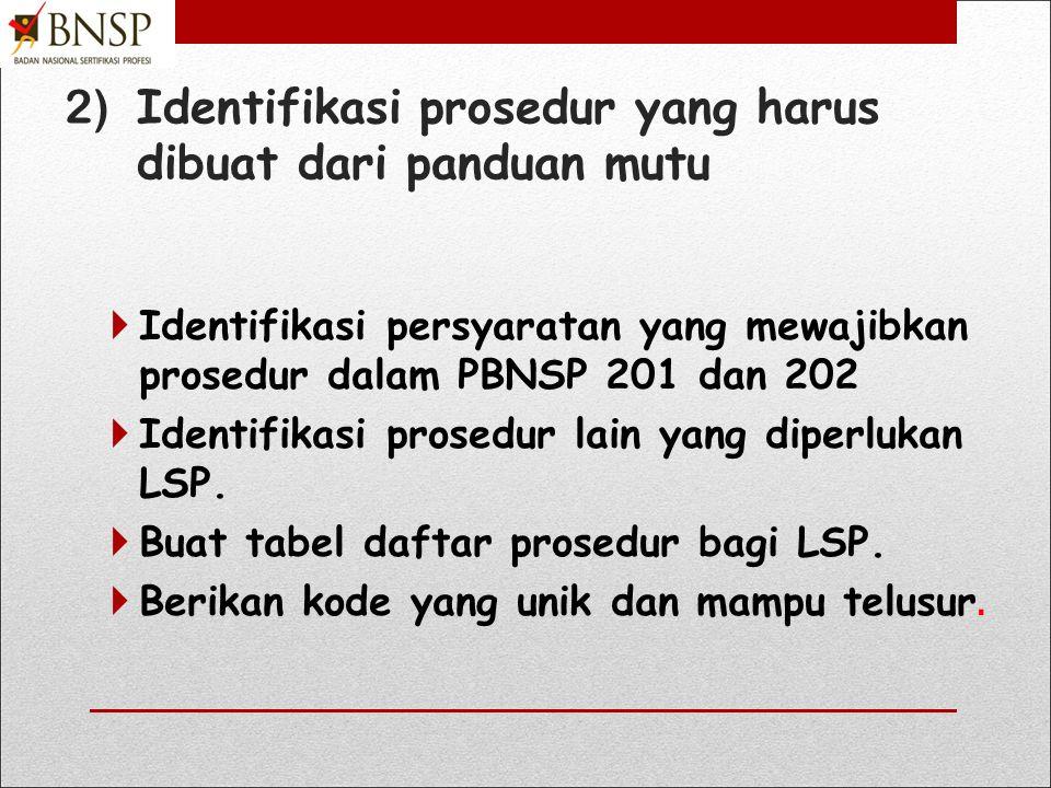 1. Identifikasi proses bisnis utama LSP 1) Proses pelayanan asesmen dan sertifikasi.