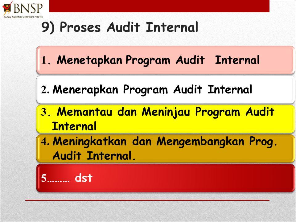 7) Proses Audit Internal 1. Menetapkan Program Audit Internal 2.