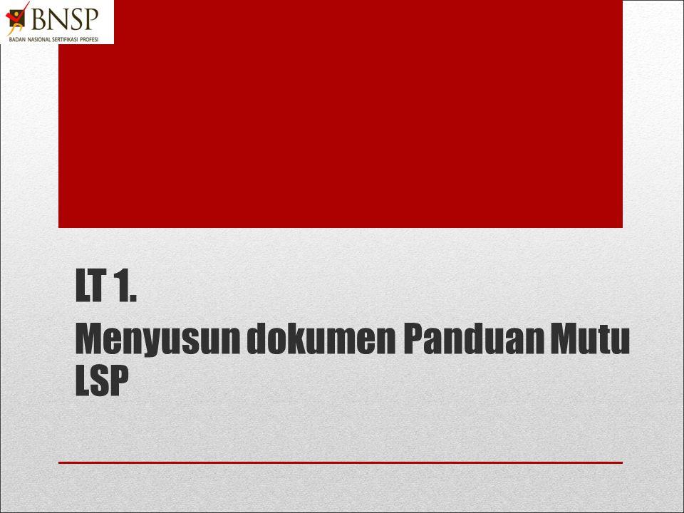 Dokumentasi Sistem Manajemen Mutu LSP Panduan Mutu SOP (Prosedur + Instruksi Kerja) Formulir & Dokumen Pendukung