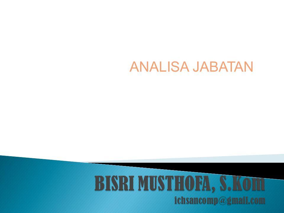 ANALISA JABATAN
