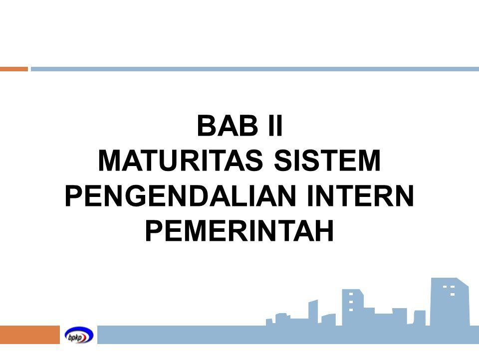 BAB II MATURITAS SISTEM PENGENDALIAN INTERN PEMERINTAH