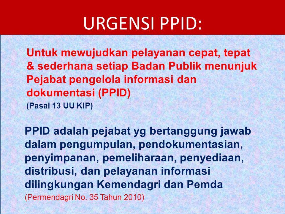 1.Pejabat Pengelola Informasi dan Dokumentasi (PPID).