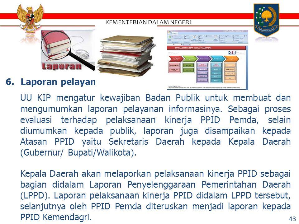 5.Aplikasi PPID pada Website Pemda Aplikasi PPID Pemda digunakan untuk membantu PPID Pemda dalam melaksanakan tugas dan kewenangan secara efektif, efisien dan akuntabel.