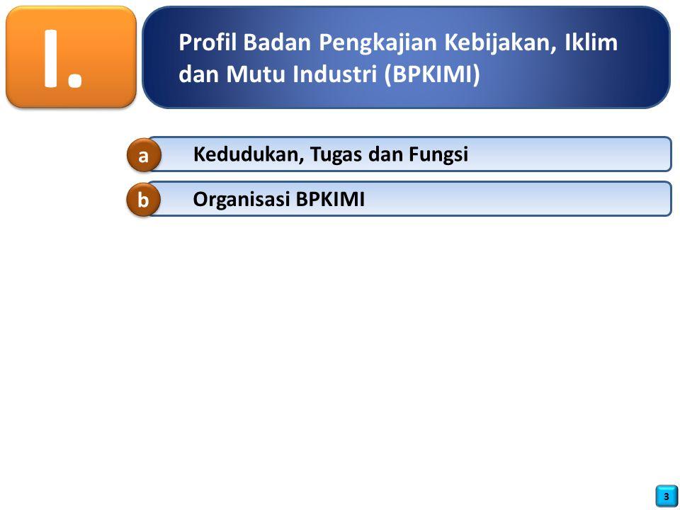 Profil Badan Pengkajian Kebijakan, Iklim dan Mutu Industri (BPKIMI) I.