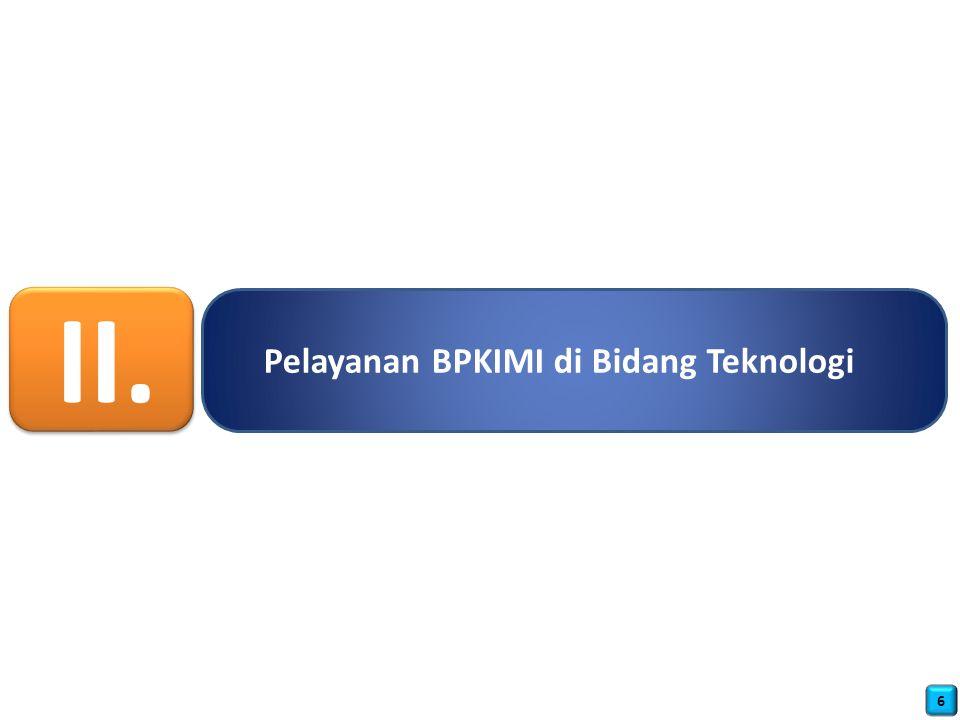 Pelayanan BPKIMI di Bidang Teknologi II. 6