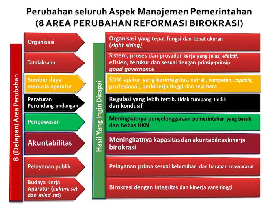 Perubahan seluruh Aspek Manajemen Pemerintahan (8 AREA PERUBAHAN REFORMASI BIROKRASI)