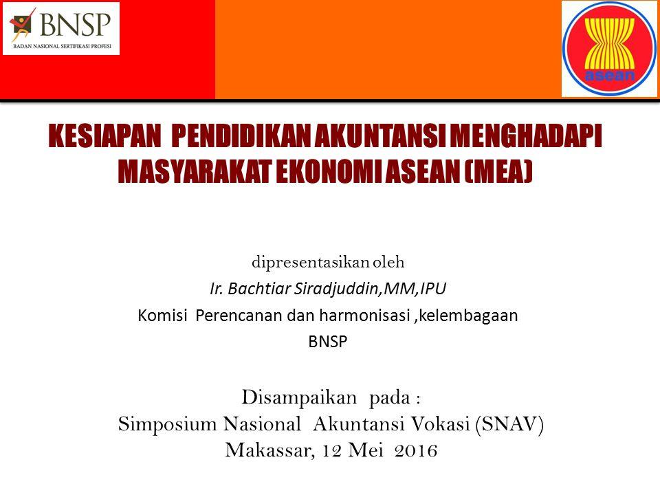 Disampaikan pada : Simposium Nasional Akuntansi Vokasi (SNAV) Makassar, 12 Mei 2016 KESIAPAN PENDIDIKAN AKUNTANSI MENGHADAPI MASYARAKAT EKONOMI ASEAN