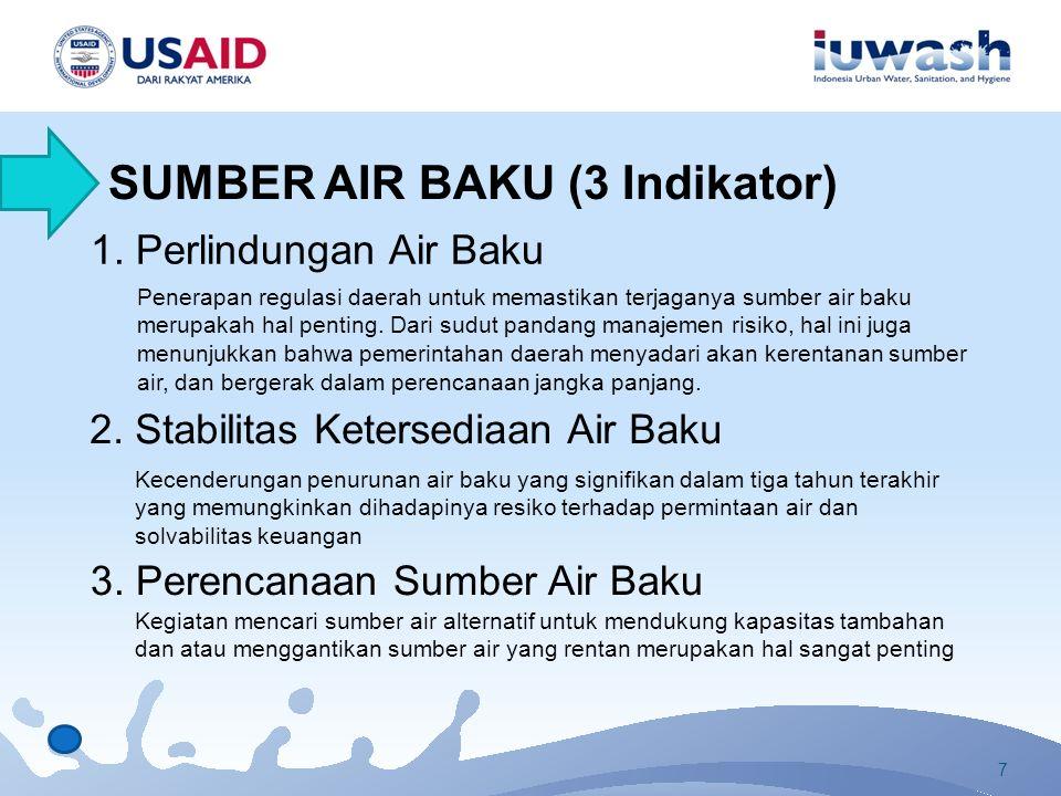 1. Perlindungan Air Baku Penerapan regulasi daerah untuk memastikan terjaganya sumber air baku merupakah hal penting. Dari sudut pandang manajemen ris