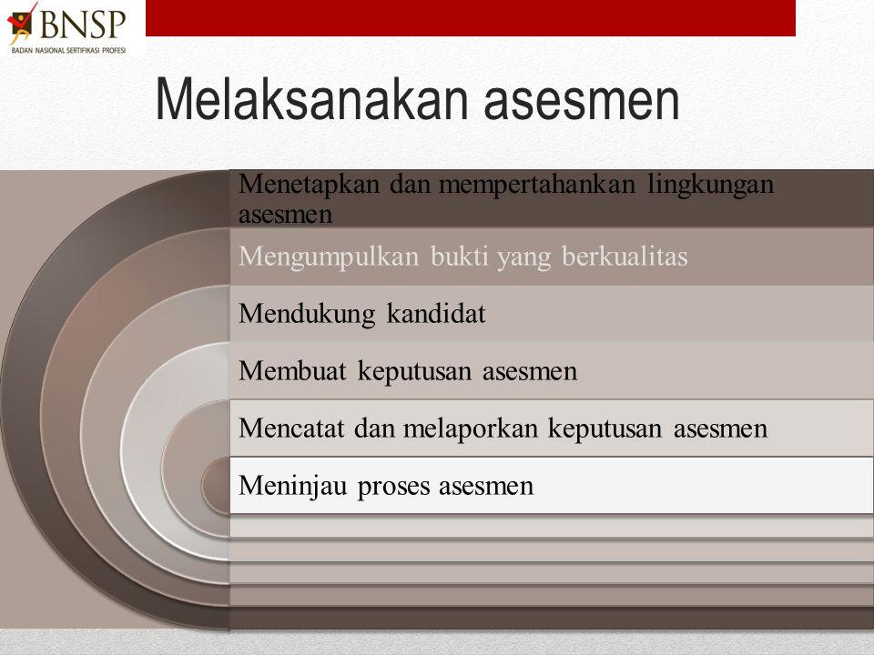 Merencanakan dan mengorganisasikan asesmen Menerima tugas merencanakan dan mengorganisasikan asesmen Menentukan pendekatan asesmenMenyiapkan Rencana a
