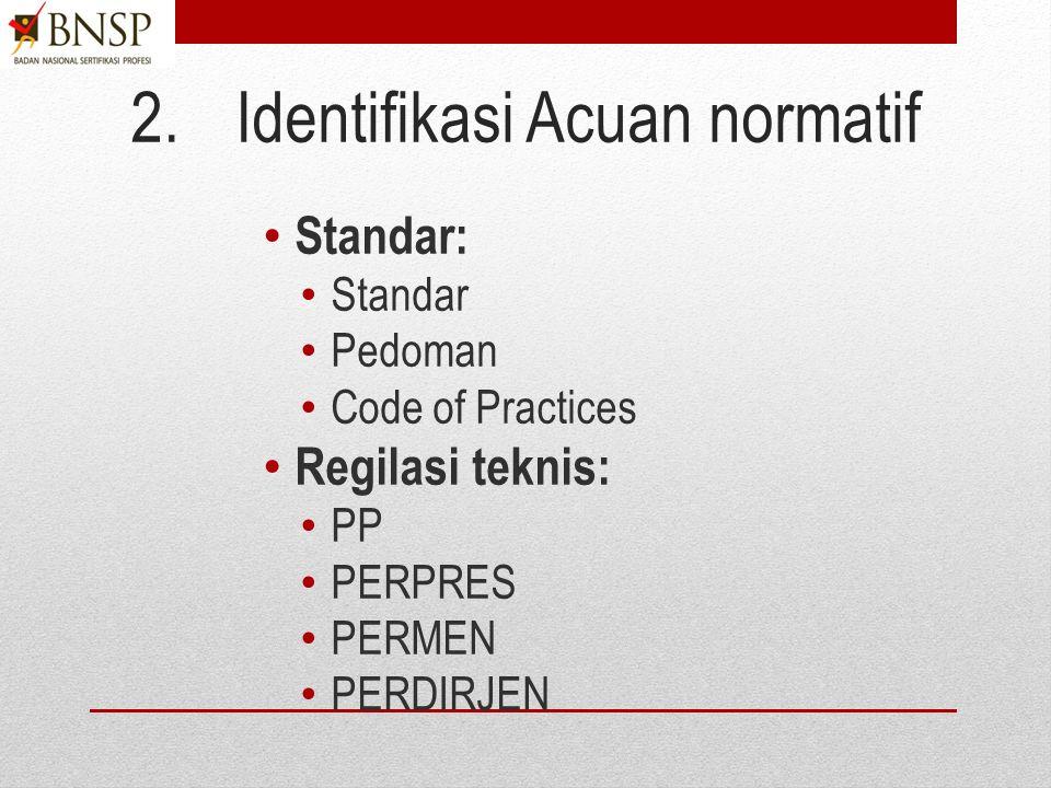 1.Ruang lingkup Kategori LSP: (Pihak 1/Pihak 2/Pihak 3/Profisiensi). Skema sertifikasi (KKNI, Okupasi Nasional, Klaster, Unit dan/atau profisiensi). S