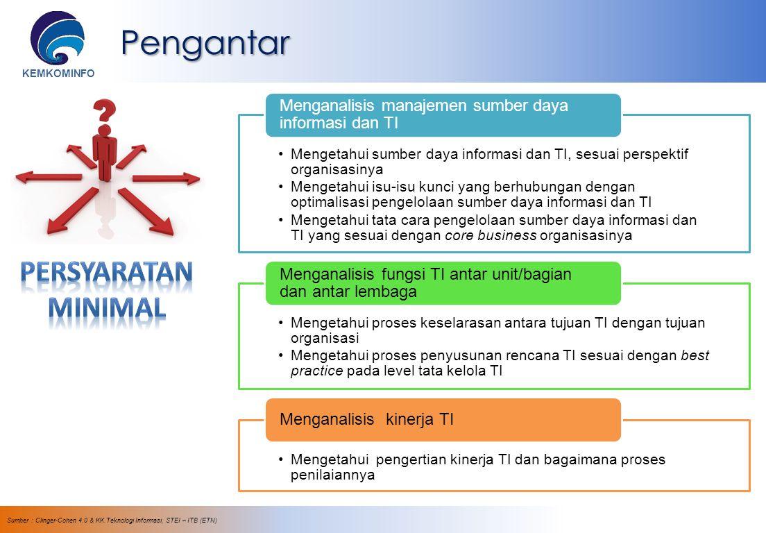 KEMKOMINFO Best Practice IT Governance Modifikasi dari : ©2007 IT Governance Institute.