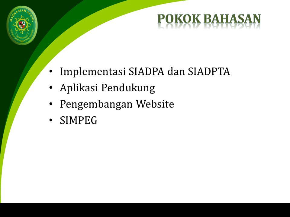 Implementasi SIADPA dan SIADPTA Aplikasi Pendukung Pengembangan Website SIMPEG