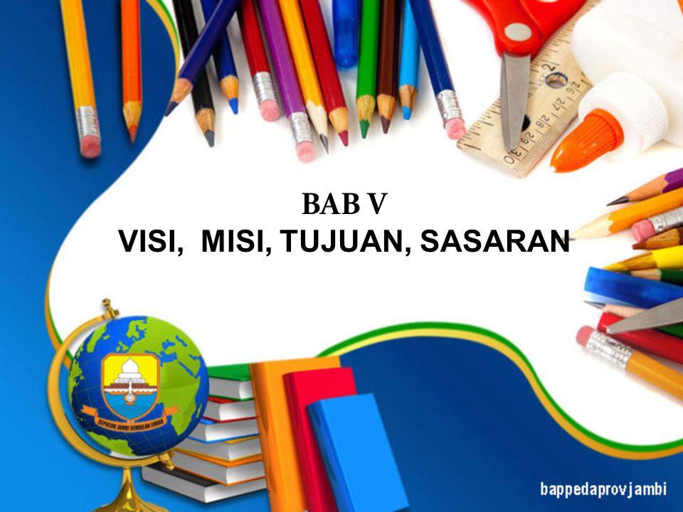 BAB V VISI, MISI, TUJUAN, SASARAN