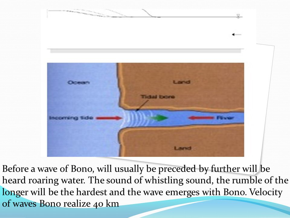 Before a wave of Bono, will usually be preceded by further will be heard roaring water.