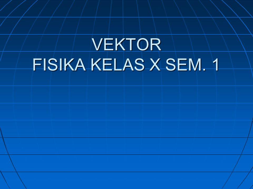 VEKTOR FISIKA KELAS X SEM. 1