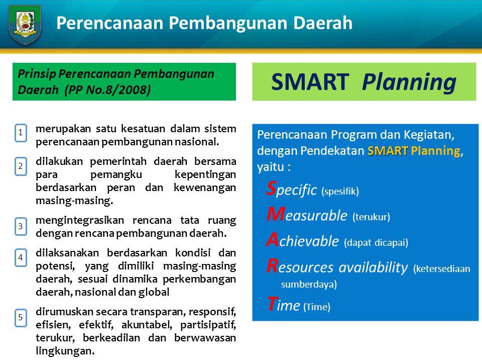 1.merupakan satu kesatuan dalam sistem perencanaan pembangunan nasional.
