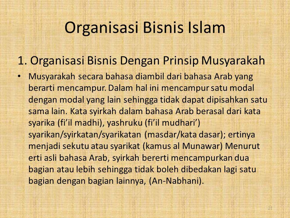 Organisasi Bisnis Islam 1.
