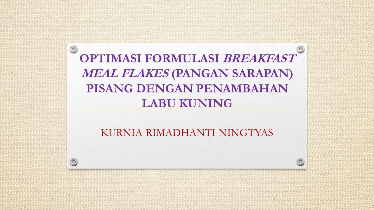 Latar Belakang Flakes merupakan salah satu bentuk dari produk pangan yang menggunakan bahan pangan serealia seperti beras, gandum atau jagung dan umbi-umbian.