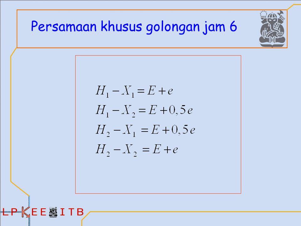 Persamaan khusus golongan jam 6
