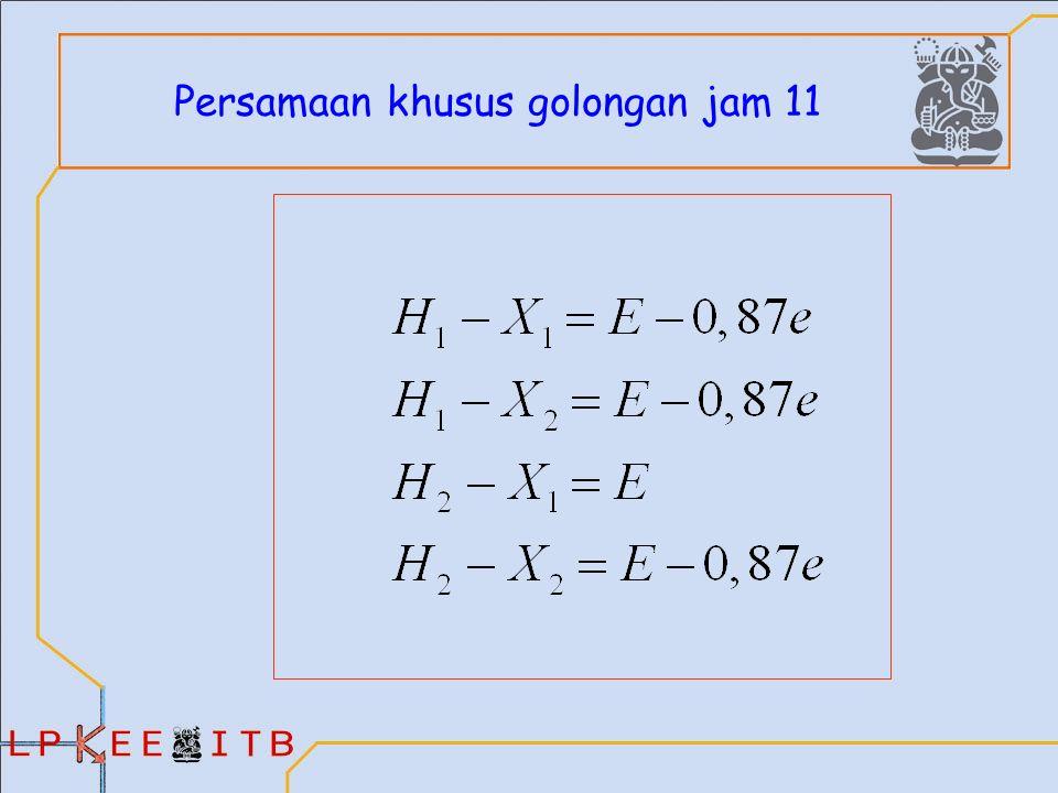 Persamaan khusus golongan jam 11