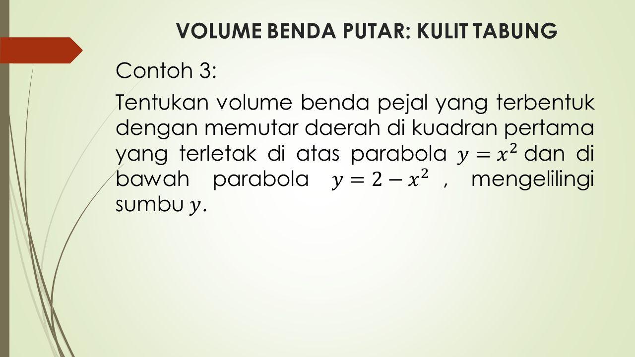 VOLUME BENDA PUTAR: KULIT TABUNG