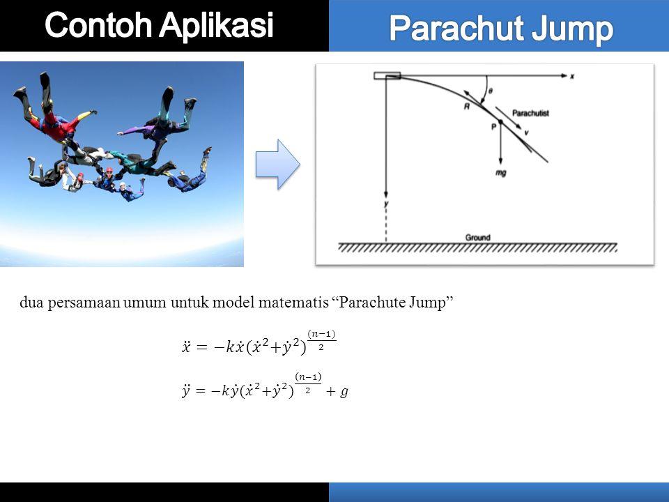"""dua persamaan umum untuk model matematis """"Parachute Jump"""""""