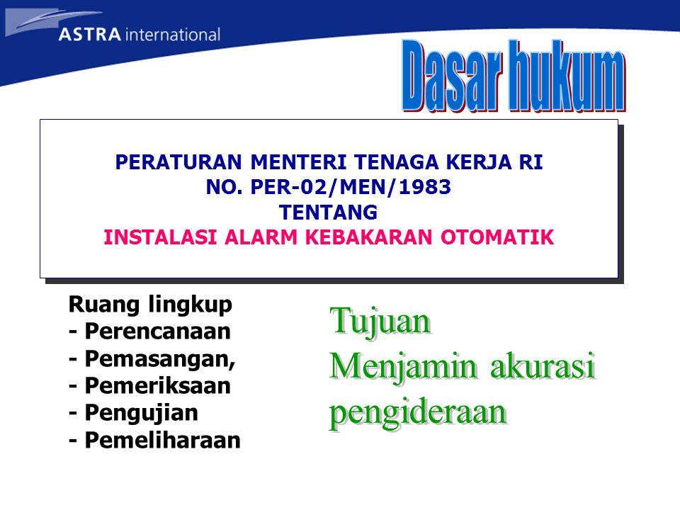 Detektor Panel kontrol SISTEM AUTOMATIC FIRE DETECTION &ALARM MCFA Signal alarm