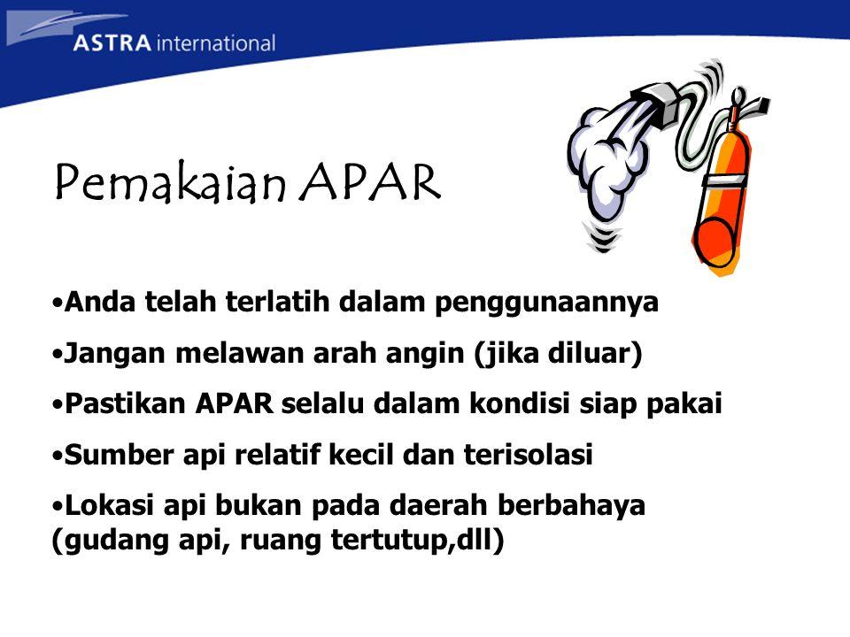 Klasifikasi Klas A Klas B Klas C Klas D Jenis kebakaran Bahan spt (kayu, kertas, kain dsb.