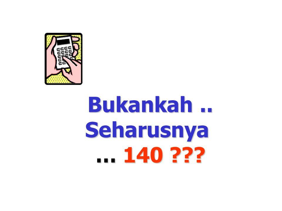 … berapa jumlah Jari Tangan & jari Kaki..7 orang ??? 70 …? Bukankah.. Seharusnya … 140 ???