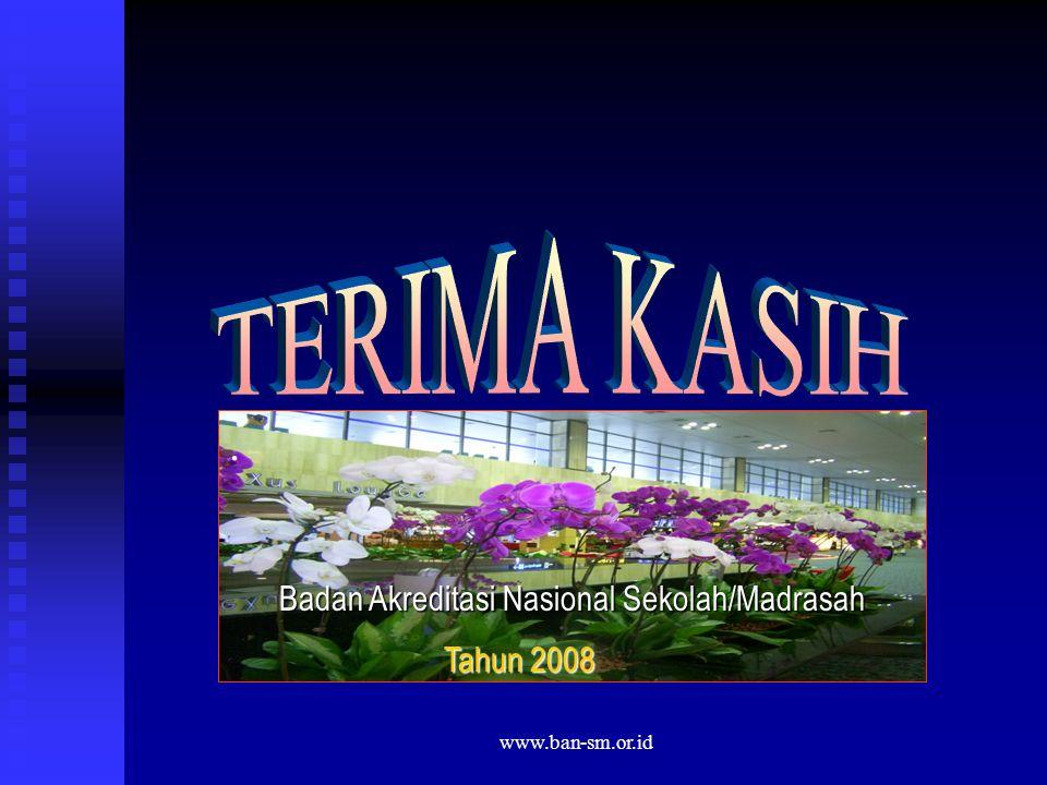 www.ban-sm.or.id. Badan Akreditasi Nasional Sekolah/Madrasah Tahun 2008