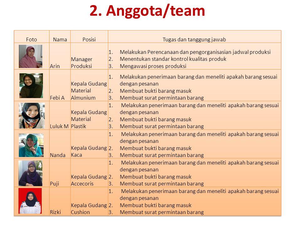 2. Anggota/team