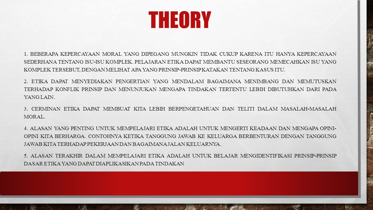 THEORY 1.