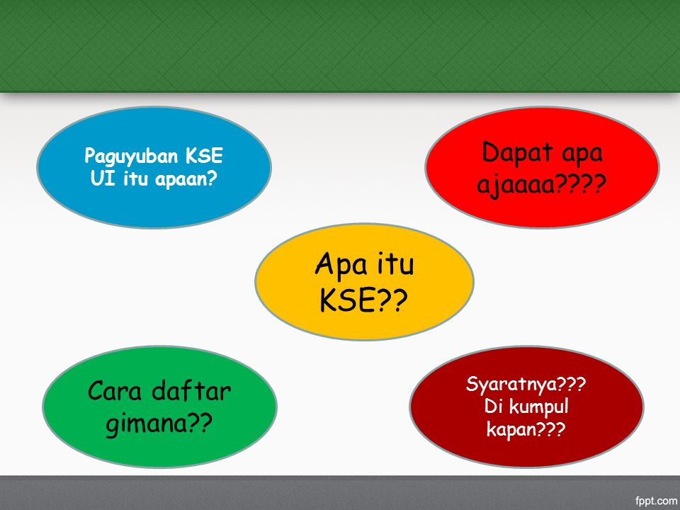 Apa itu KSE . Paguyuban KSE UI itu apaan. Cara daftar gimana .