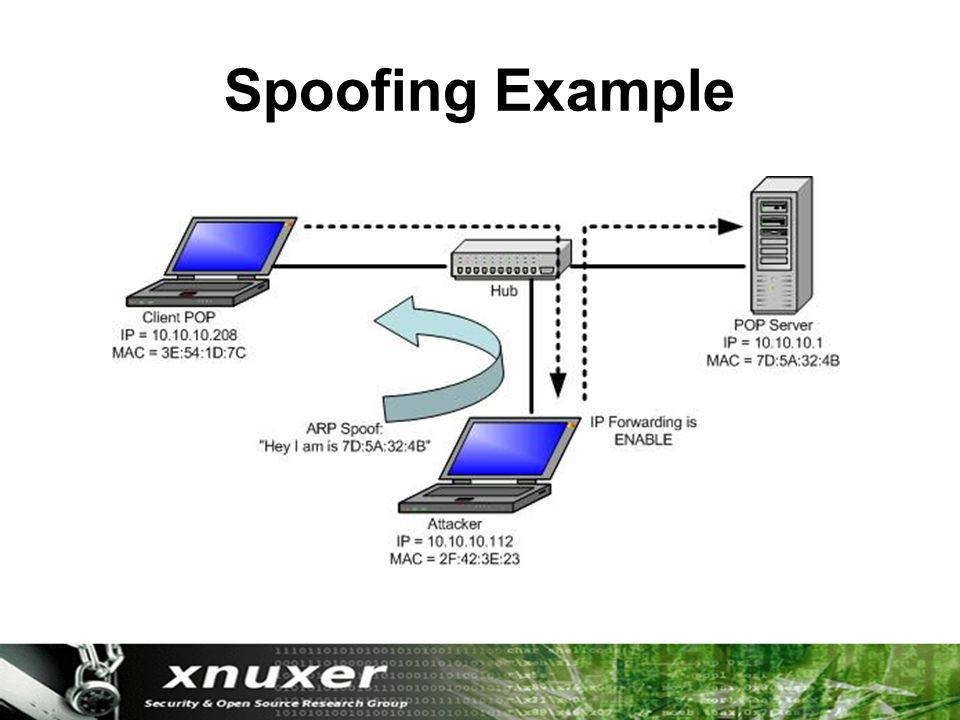 Spoofing Example
