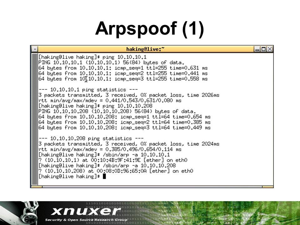 Arpspoof (1)
