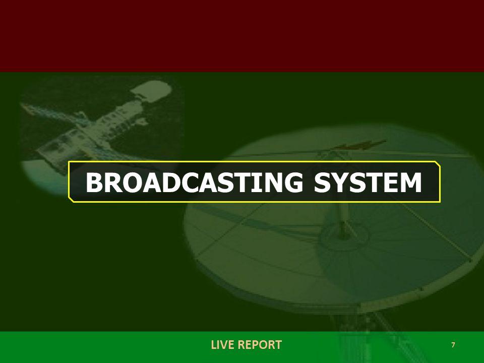 8 LIVE REPORT BROADCASTING SYSTEM TRANSMITER STUDIO HOME Electromagnetic Wave