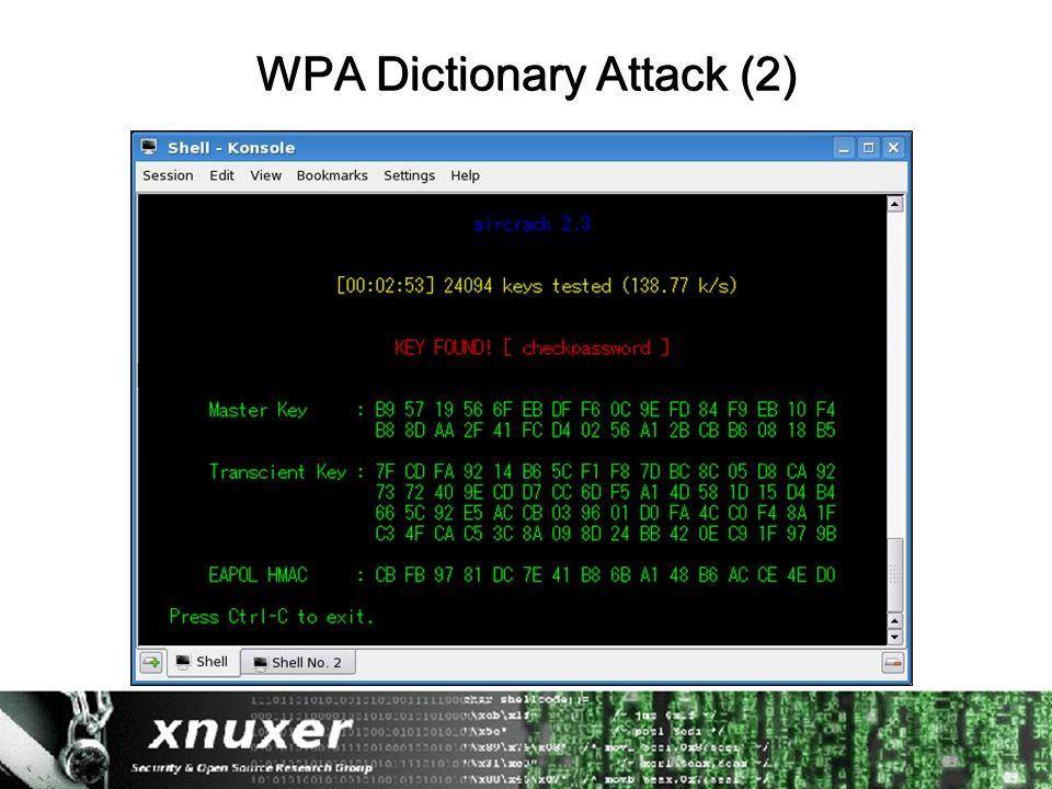 WPA Dictionary Attack (2)