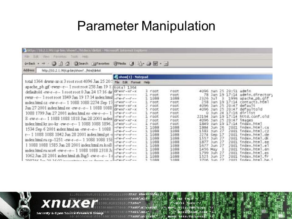 Parameter Manipulation