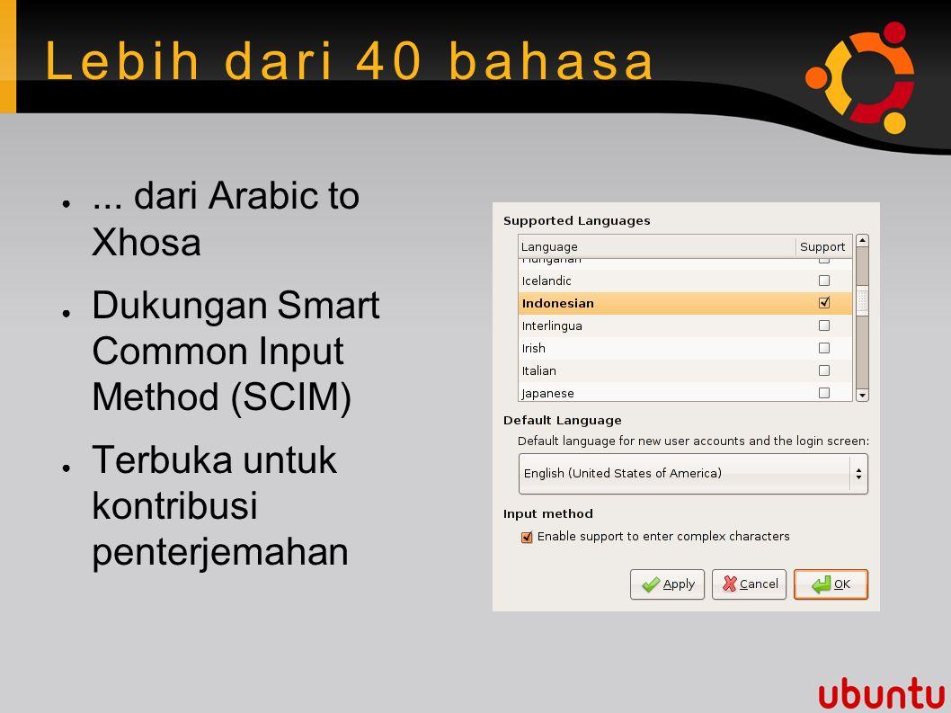 Lebih dari 40 bahasa ●...