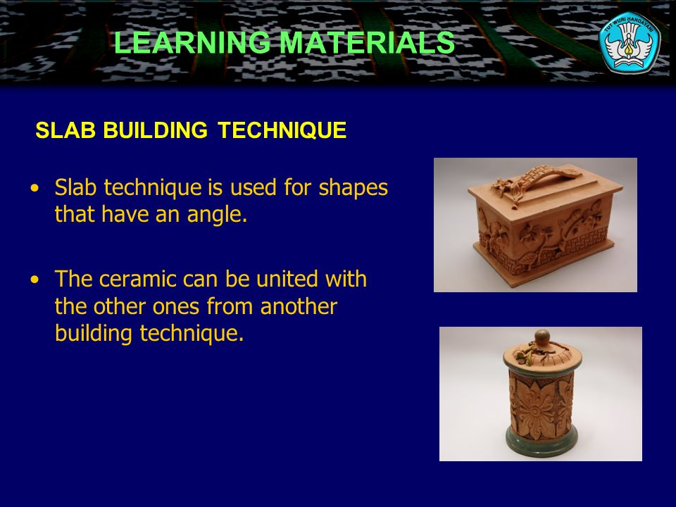 CERAMIC BUILDING USING TORTUOUS SLAB Cut the slab following the pattern Ready to use slabs