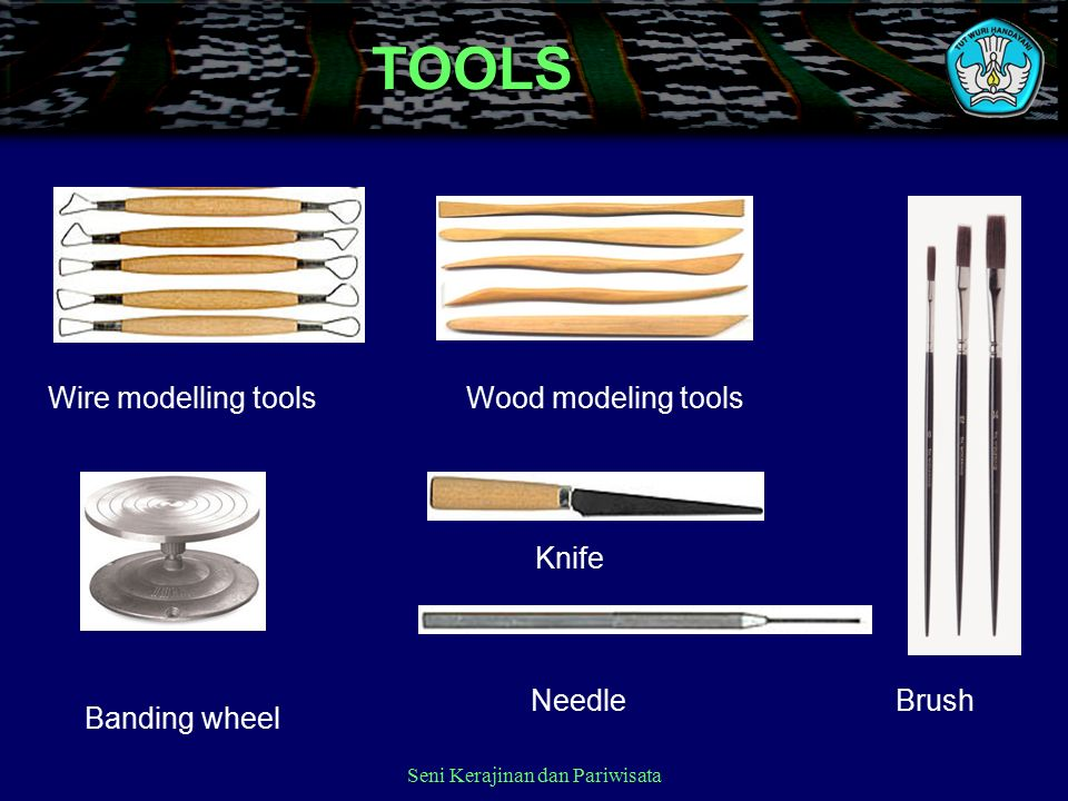 Seni Kerajinan dan PariwisataTOOLS Wire modelling toolsWood modeling tools Banding wheel Knife NeedleBrush