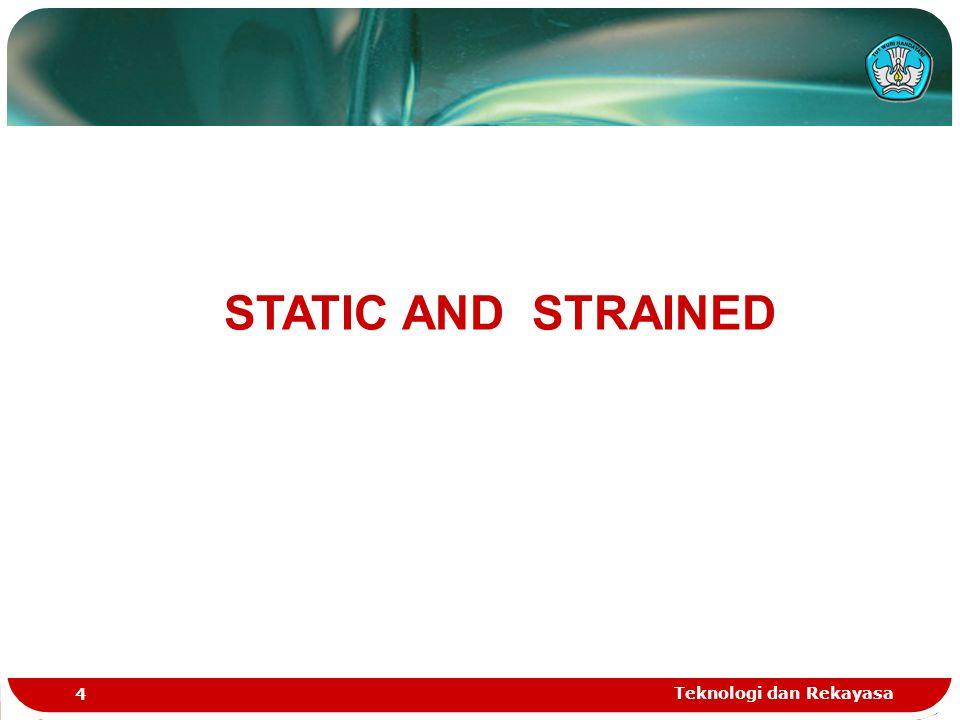 Teknologi dan Rekayasa 4 STATIC AND STRAINED
